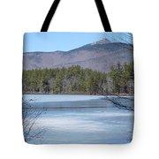 Frozen Lake Chocorua Tote Bag