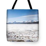 Frozen Lake Tote Bag
