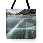 Frozen Lake In The High Sierra Tote Bag
