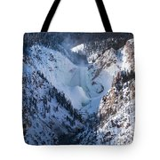 Frozen Lower Falls Tote Bag