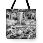 Frozen Minnehaha Falls Tote Bag