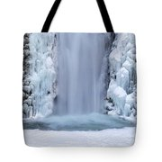 Frozen Multnomah Falls Closeup Tote Bag