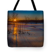 Frozen New Year Tote Bag
