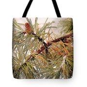 Frozen Pine Tote Bag