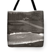 Frozen Pond Camp Ground Panorama Tote Bag