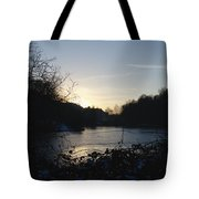 Frozen Pool At Sunset Tote Bag