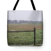 Frozen Rainy Field Tote Bag by Kevin Croitz