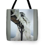 Frozen St. Joseph Outer Lighthouse Tote Bag