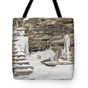 Frozen Stairs Tote Bag