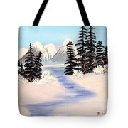 Frozen Tranquility Tote Bag