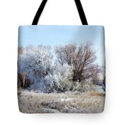 Frozen Trees By The Lake Tote Bag
