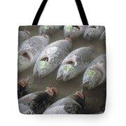 Frozen Tuna Fish At The Tsukiji Tote Bag