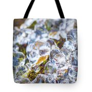 Frozen Water Droplets Tote Bag