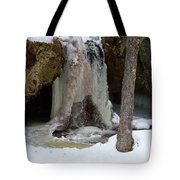 Frozen Waterfall Tote Bag