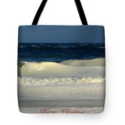 Frozen Waves Christmas Card Tote Bag