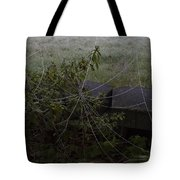 Frozen Web With Light To Dark Background Tote Bag