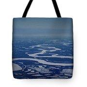 Frozen Yukon River - Alaska  Tote Bag