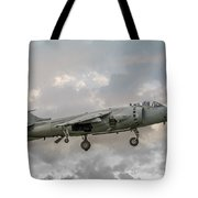 Frs1 Sea Harrier On Vertical Approach Tote Bag