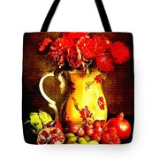 Fruit And Flower Still-life H B Tote Bag