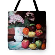 Fruit On Glass Dish II Tote Bag
