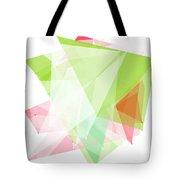 Fruit Polygon Pattern Tote Bag