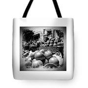 Fruit Seller Blue City Street India Rajasthan Bw 1b Tote Bag