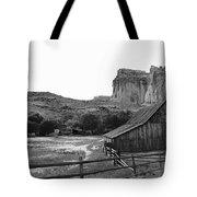 Fruita Farm In Black And White Tote Bag