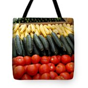 Fruits And Vegetables On Display 1 Tote Bag