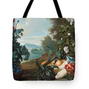 Fruits Flowers And Vegetables In A Landscape Tote Bag