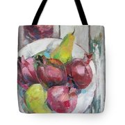 Fruits In Vintage Tote Bag