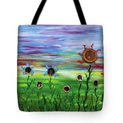 Fruity Flowerfield Tote Bag