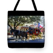 Ft Worth Stockyards Stagecoach  Tote Bag