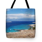Ftenagia Beach On Halki Tote Bag