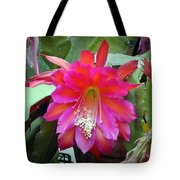 Fuchia Cactus Flower Tote Bag