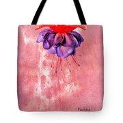 Fuchsia Blue Eyes Tote Bag
