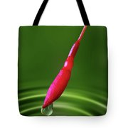 Fuchsia Bud And Droplet Tote Bag