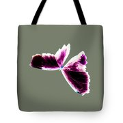 Fuchsia Burgundy Butterfly Tote Bag
