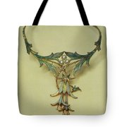 Fuchsia Necklace Alphonse Maria Mucha Tote Bag