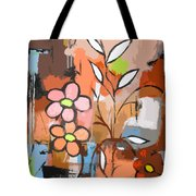 Fuddled Floral Tote Bag