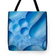 Fulfilment, Blue Abstract Art Tote Bag
