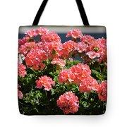 Full Bloom Geraniums  Tote Bag
