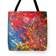Full Color Particles Tote Bag