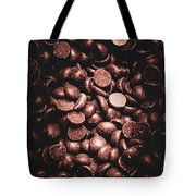 Full Frame Background Of Chocolate Chips Tote Bag