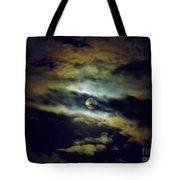 Full Moon And Clouds Tote Bag