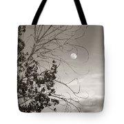 Full Moon Behind Cottonwood Tree Tote Bag