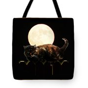 Full Moon Cat Tote Bag