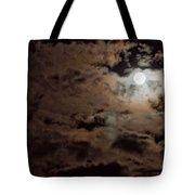 Full Moon Cloudy Night Tote Bag