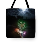 Full Moon Fireworks Tote Bag