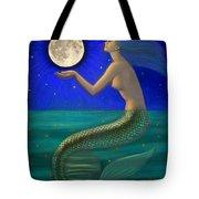 Full Moon Mermaid Tote Bag