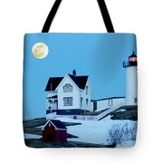 Full Moon Nubble Tote Bag